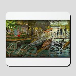 Bathers at La Grenouillere, Monet, Mousepad