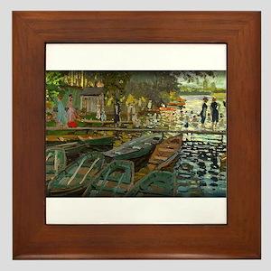 Bathers at La Grenouillere, Monet, Framed Tile
