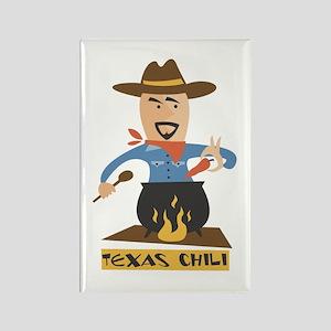 Texas Chili Rectangle Magnet