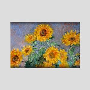 Bouquet of Sunflowers, Monet, Rectangle Magnet