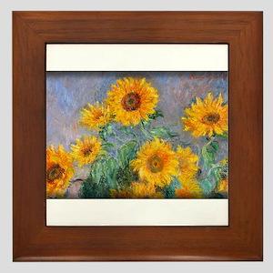 Bouquet of Sunflowers, Monet, Framed Tile