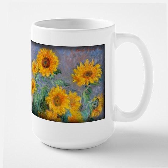 Bouquet of Sunflowers, Monet, Large Mug
