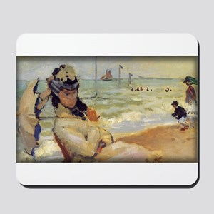 Camille on the Beach, Monet, Mousepad