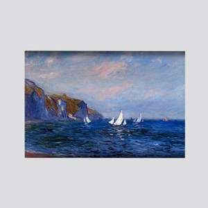Cliffs and Sailboats at Pourville, Monet, Rectangl