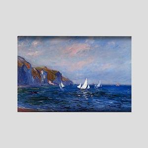 Cliffs and Sailboats at Pourville, Monet, Rectangl