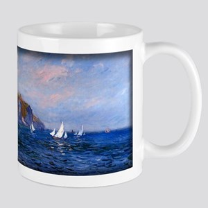 Cliffs and Sailboats at Pourville, Monet, Mug