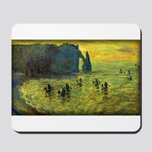 Monet Painting, Cliffs at Etretat, Mousepad