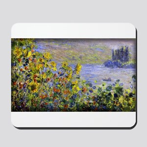 Flowers Beds at Vetheuil, Monet, Mousepad
