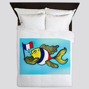 French Flag Fish Queen Duvet