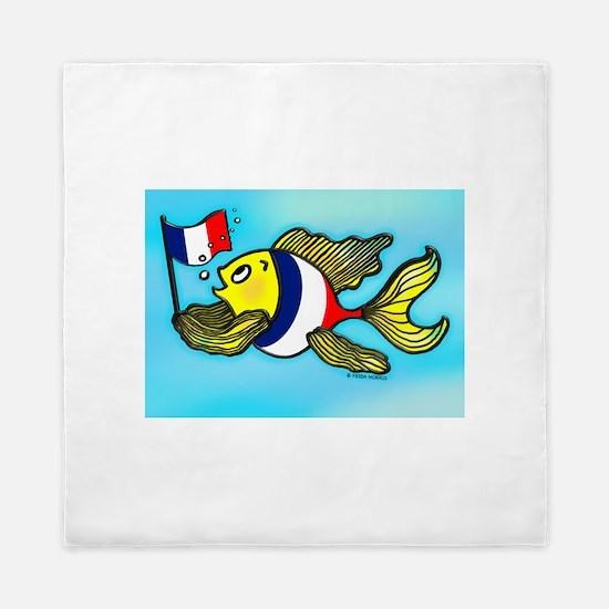 French Flag Fish Queen Duvet