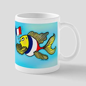 French Flag Fish Mug