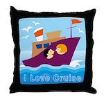 Ocean Cruise Throw Pillow