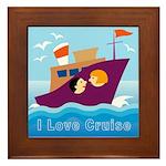 Ocean Cruise Framed Tile