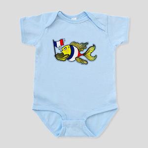 French Flag Fish Infant Bodysuit