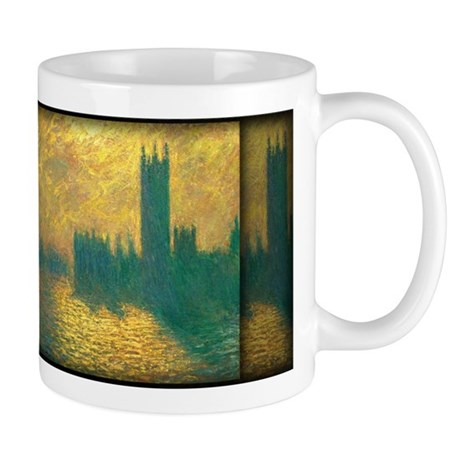 Monet Painting, Houses of Parliament Mug