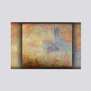 Houses of Parliament, Seagulls, Monet Rectangle Ma