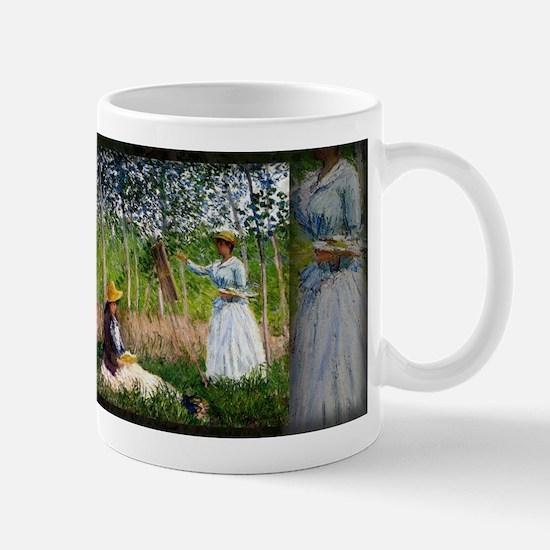 Blanche Hoschede Monet At Her Easel, Monet, Mug