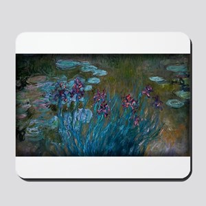 Irises and Water-Lilies Monet, Mousepad