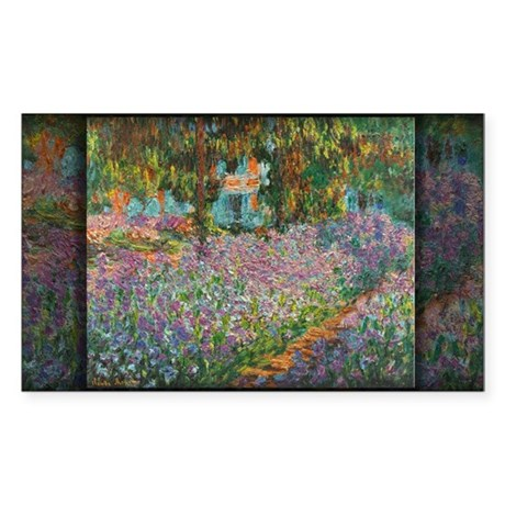 Irises in Monet's Garden 03 Monet, Sticker (Rectan