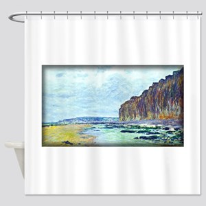 Low Tide at Varengeville 02, Monet, Shower Curtain