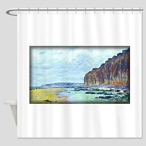 Low Tide at Varengeville 02, Monet, Shower Curtain