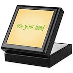 USE YOUR HAND Keepsake Box