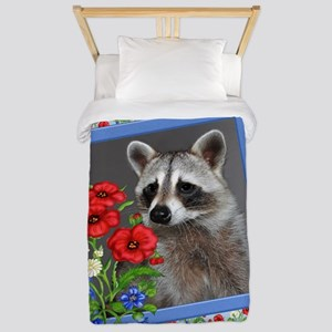 Raccoon Flower Twin Duvet