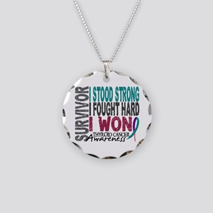 Survivor 4 Thyroid Cancer Shirts and Gifts Necklac