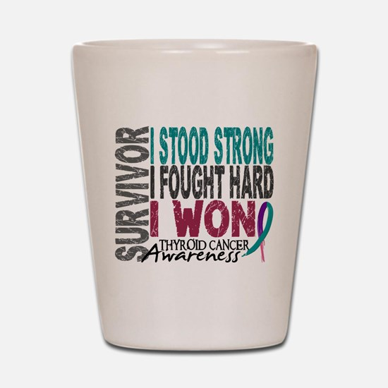 Survivor 4 Thyroid Cancer Shirts and Gifts Shot Gl