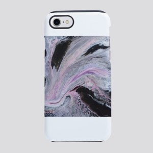 White/Black/Pink Abstract iPhone 7 Tough Case