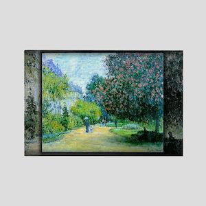Monet Painting, Parc Monceau, 1876, Rectangle Magn