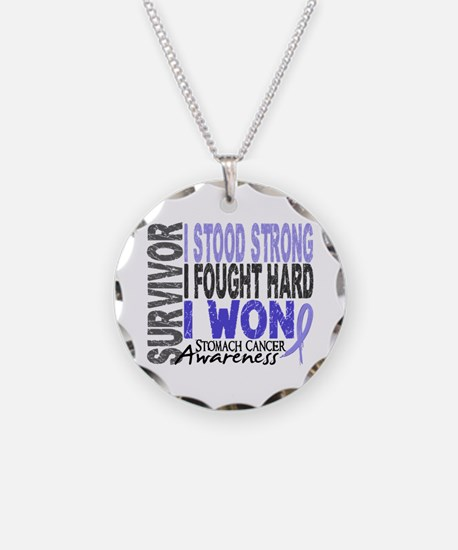 Survivor 4 Stomach Cancer Shirts and Gifts Necklac