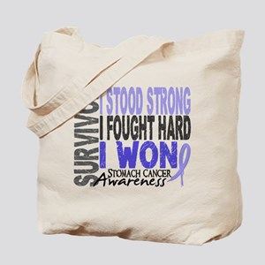 Survivor 4 Stomach Cancer Shirts and Gifts Tote Ba