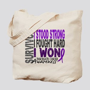 Survivor 4 Pancreatic Cancer Shirts and Gifts Tote