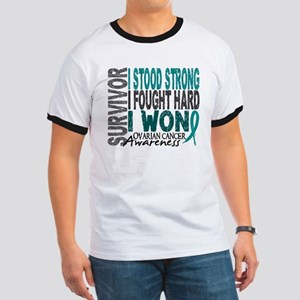 Survivor 4 Ovarian Cancer Shirts and Gifts Ringer