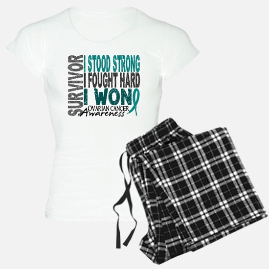 Survivor 4 Ovarian Cancer Shirts and Gifts Pajamas