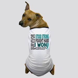 Survivor 4 Ovarian Cancer Shirts and Gifts Dog T-S