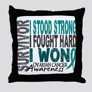Survivor 4 Ovarian Cancer Shirts and Gifts Throw P