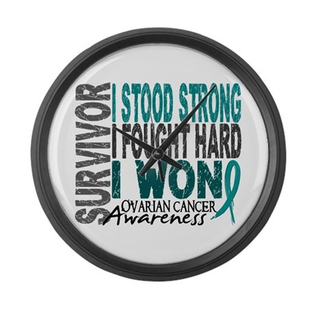 Survivor 4 Ovarian Cancer Shirts and Gifts Large W