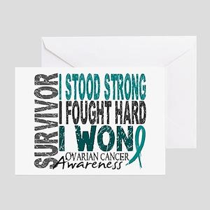 Survivor 4 Ovarian Cancer Shirts and Gifts Greetin