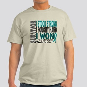 Survivor 4 Ovarian Cancer Shirts and Gifts Light T