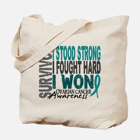 Survivor 4 Ovarian Cancer Shirts and Gifts Tote Ba