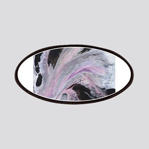 White/Black/Pink Abstract Patch