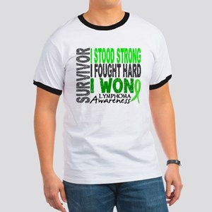 Survivor 4 Lymphoma Shirts and Gifts Ringer T