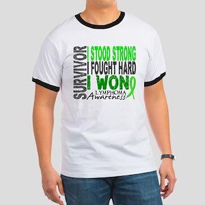 Survivor 4 Lymphoma Shirts and Gifts Ringer T