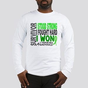 Survivor 4 Lymphoma Shirts and Gifts Long Sleeve T