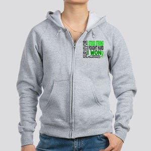 Survivor 4 Lymphoma Shirts and Gifts Women's Zip H