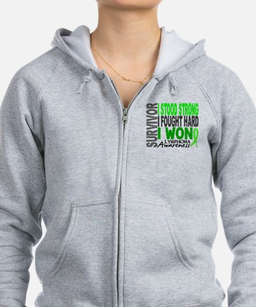 Survivor 4 Lymphoma Shirts and Gifts Zip Hoodie