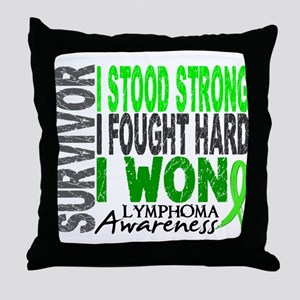Survivor 4 Lymphoma Shirts and Gifts Throw Pillow