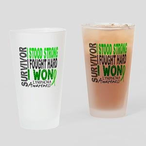 Survivor 4 Lymphoma Shirts and Gifts Drinking Glas